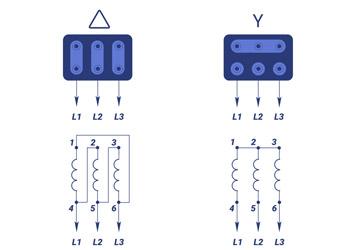 Схема підключення електродвигуна 220/380В