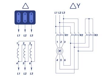 Схема подключения электродвигателя свыше 15 кВт